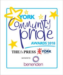 York Community Pride Awards 2018 logo